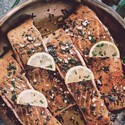 Pan Seared Salmon with Citrus & Garlic Butter